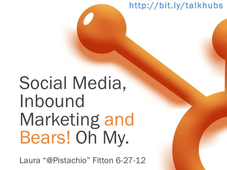 "http://bit.ly/talkhubspSocial Media,InboundMarketing andBears! Oh My.Laura ""@Pistachio"" Fitton 6-27-12"