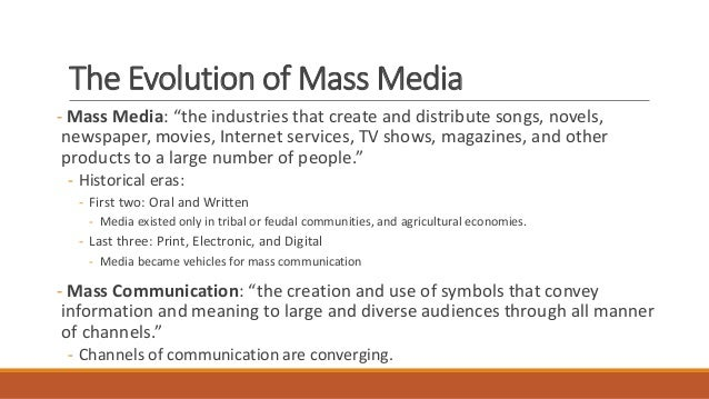 Essay On Mass Media