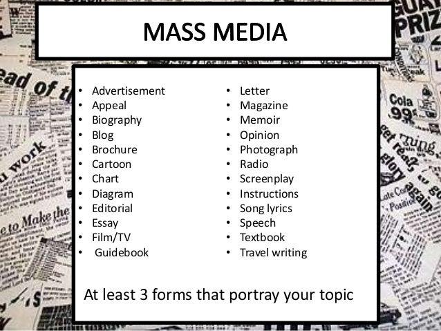 Buy mass communication essay