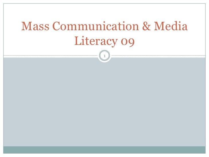 Mass Communication & Media Literacy 09