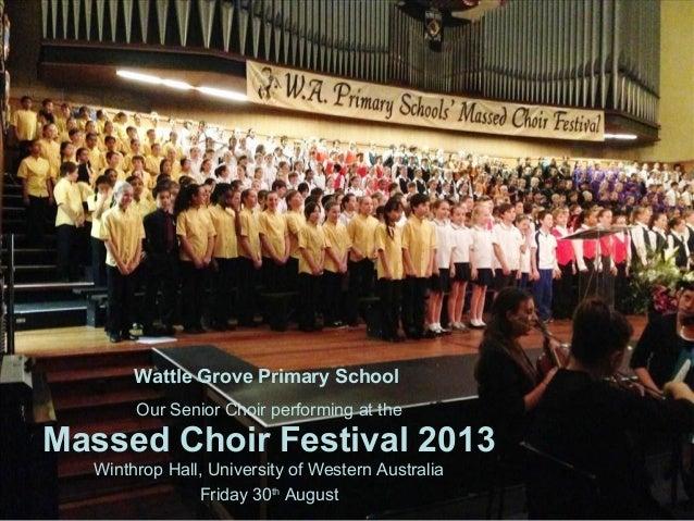 Massed School Choir Festival 2013