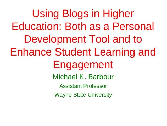 Sabbatical (Massey University-Wellington) - Blogging in Higher Education: Examining How the Tools Can be Used for Personal Development and with Students