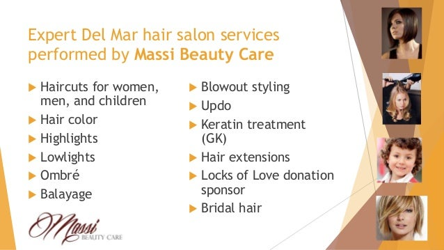 Massi beauty care hair salon presentation for About salon services