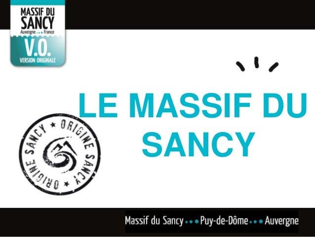 LE MASSIF DU SANCY