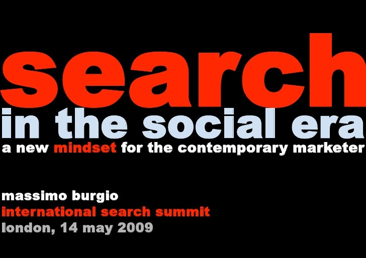 Massimo Burgio International Search Social Media Summit London 2009