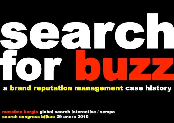 Search For Buzz Sc Bilbao 2010, Massimo Burgio