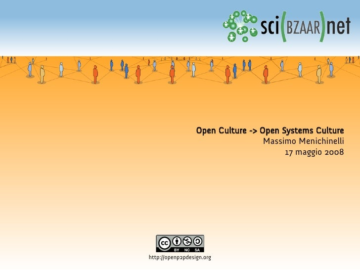 Open Culture --> Open systems Culture