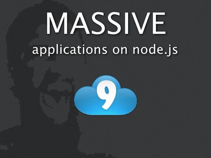 MASSIVEapplications on node.js