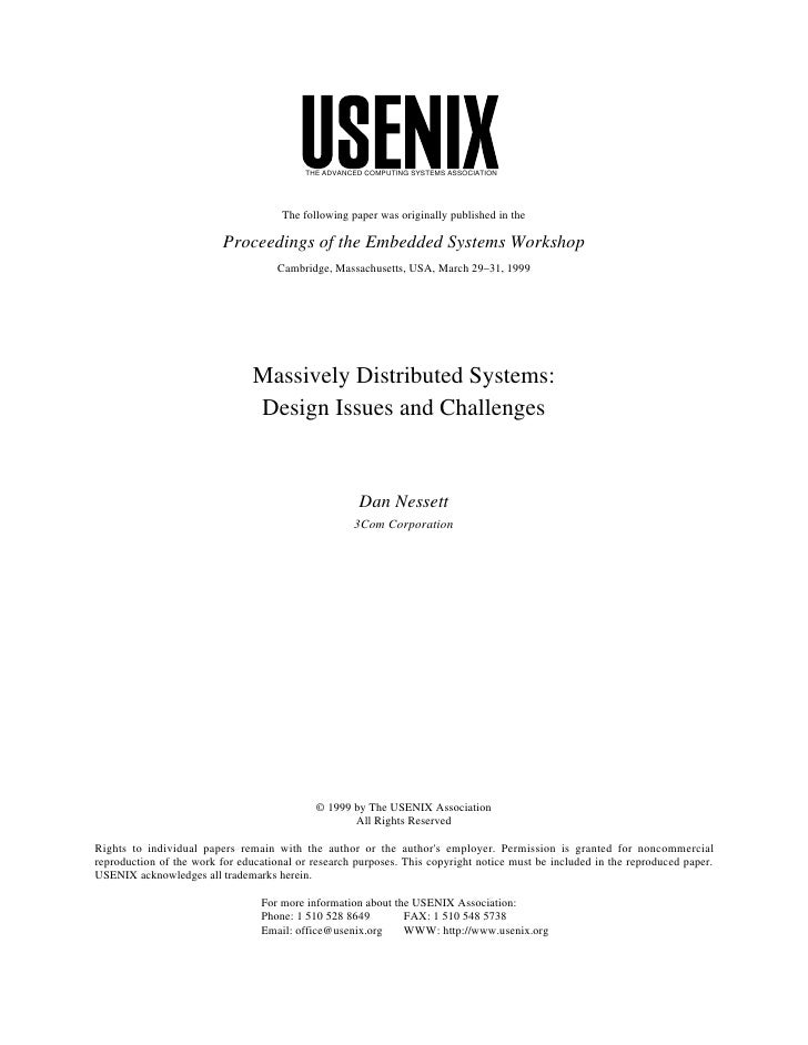 THE ADVANCED COMPUTING SYSTEMS ASSOCIATION                                      The following paper was originally publish...