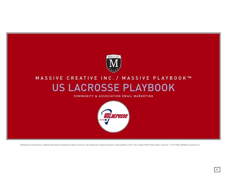 MASSI VE CREAT IVE INC. / MASS IVE PLAYB OOK™                                                    US LACROSSE PLAYBOOK     ...