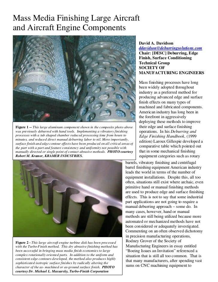 Mass Media Finishing Large Aircraftand Aircraft Engine Components                                                         ...