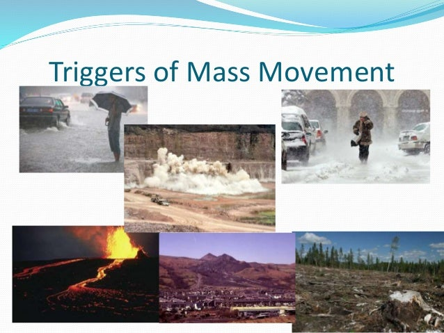 How does mass movement affect cliffs&why?