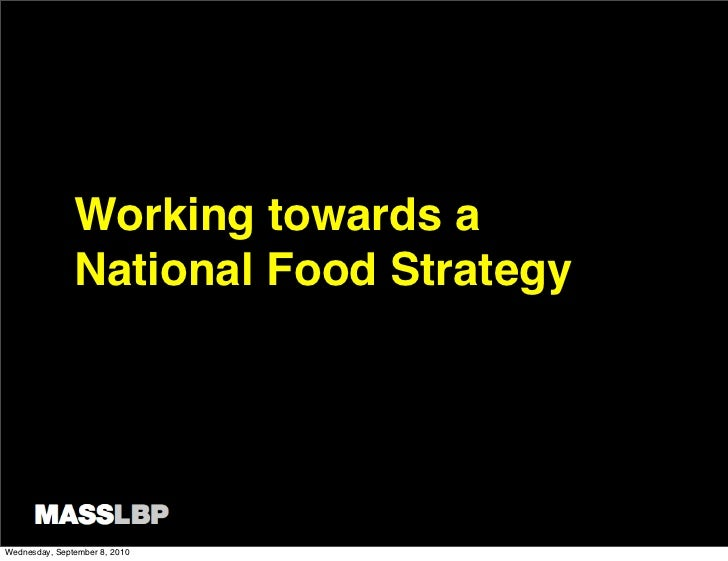 MASS LBP on National Food Strategy