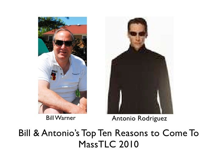 Top 10 Reasons to Go to MassTLC 2010