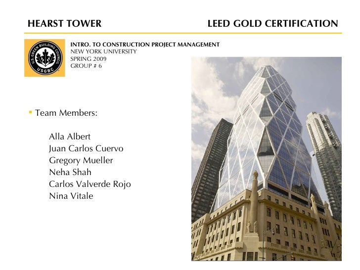 Hearst Tower Leed Hearst Tower Leed Overview