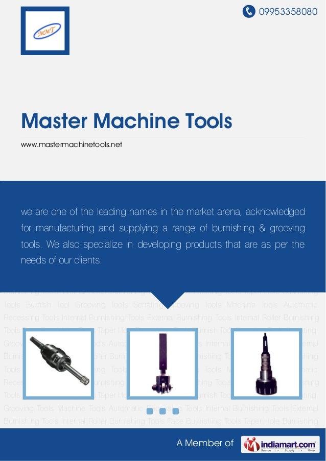 Master machine-tools