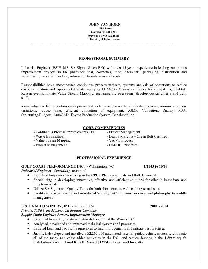 Master Resume For Candidate John Van Horn