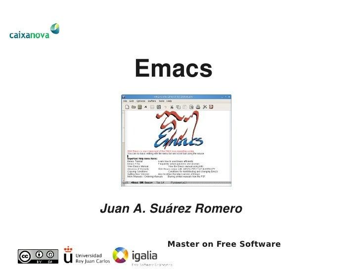 MSL2009. Emacs