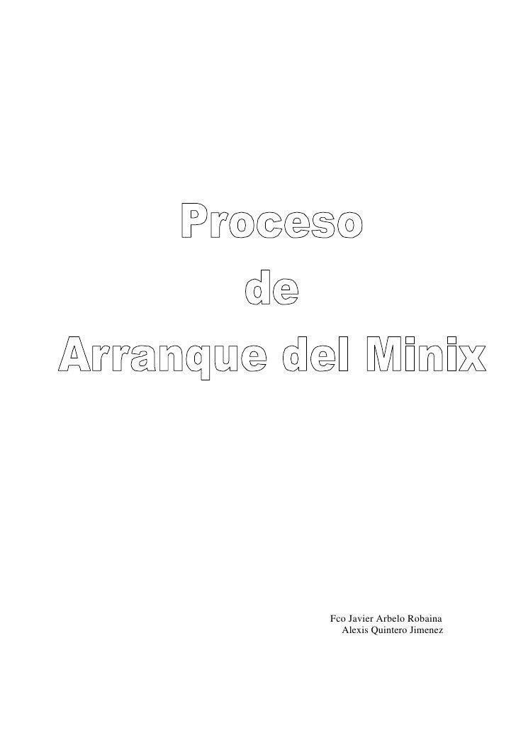 Proceso de arranque de minix