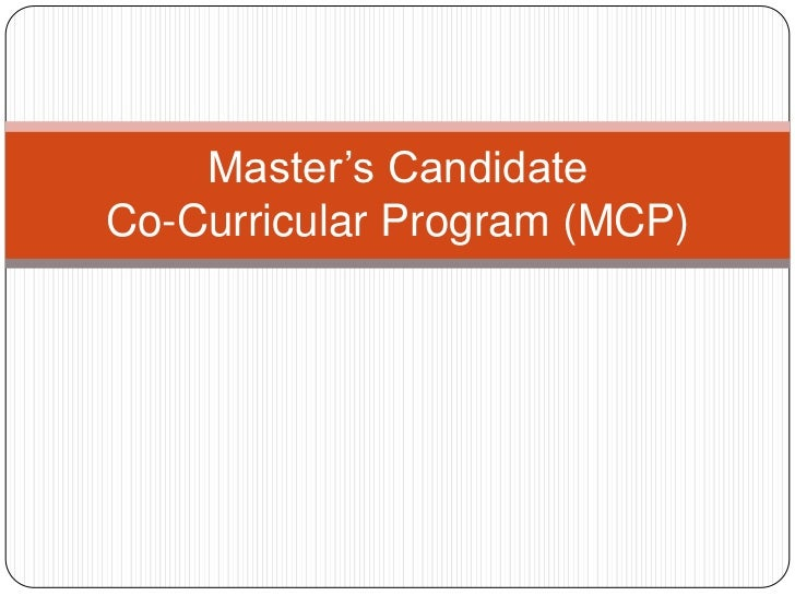 Graduate Co-Curricular Program Recommendations