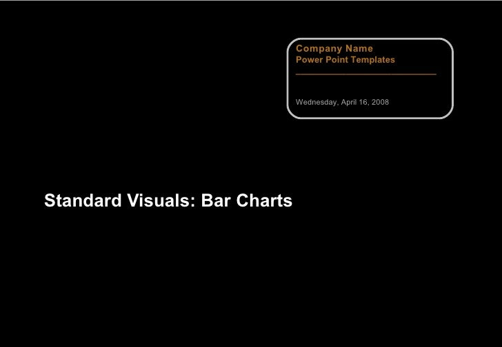 Standard Visuals: Bar Charts