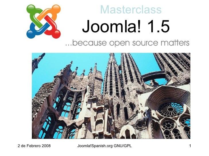 Joomla! 1.5 Masterclass