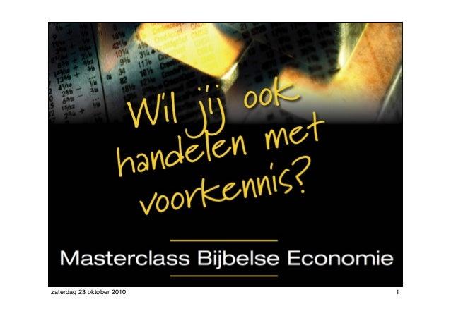 Masterclass Bijbelse Economie Deel2