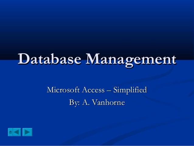 Master database management for cxc