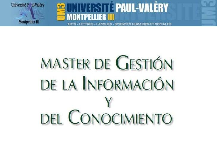 Master documenta