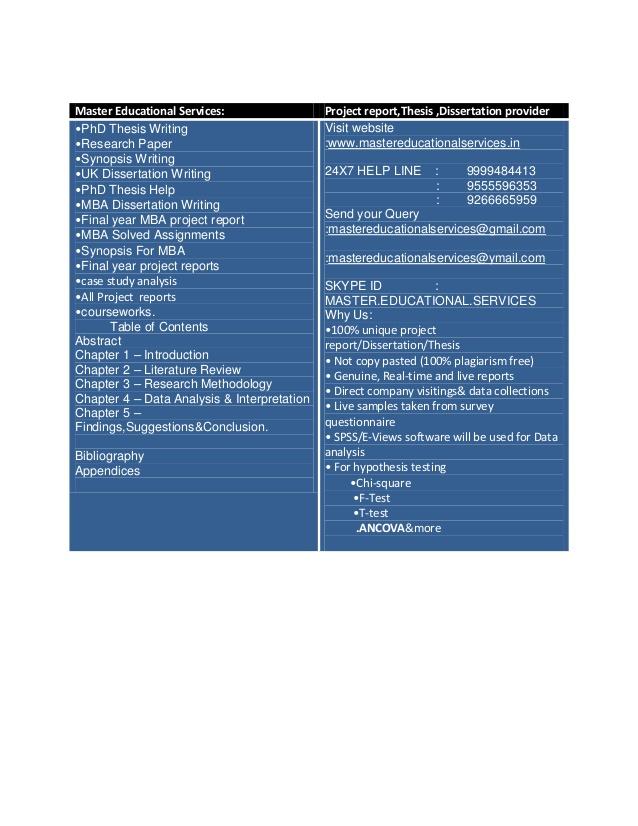 Chanakya Research: PhD Thesis Writing Help, UK MBA Dissertation
