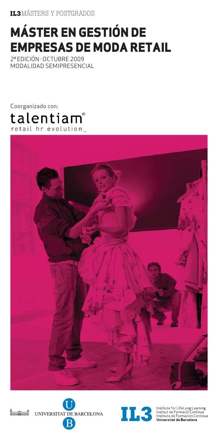 Master en Gestión de Empresas de Moda Retail - Barcelona