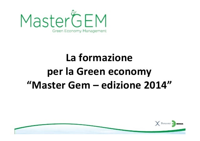 Mastergem 2014   presentazione generale