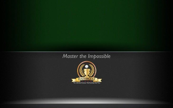 Mastergolf Tour Concept