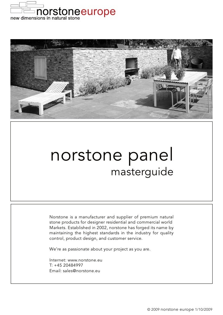 Masterguide - norstone Wall and Facade - Natural Stone Panels