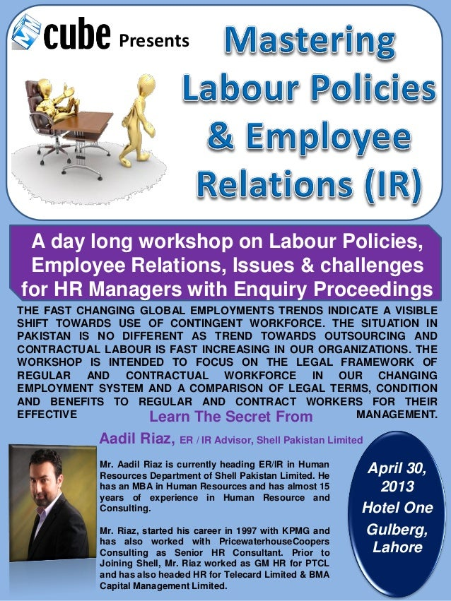 Mastering Labour Policies &  Employee Relations (IR)