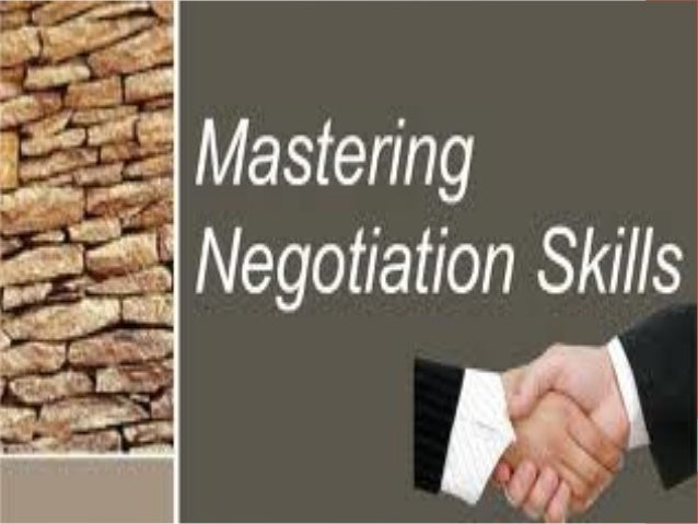 Mastering negotiation skills pdf