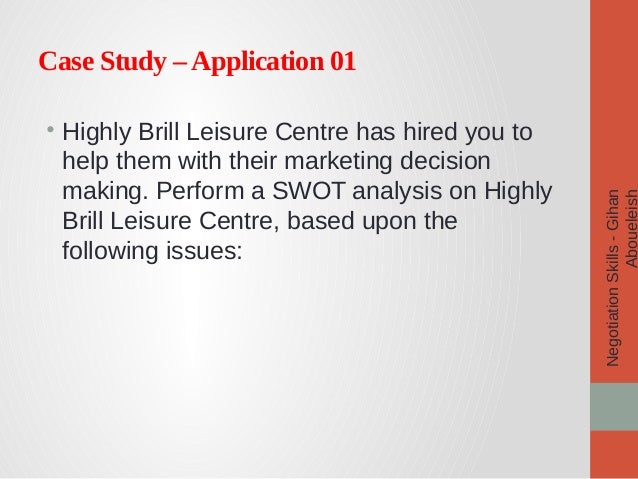Negotiation skills case studies pdf
