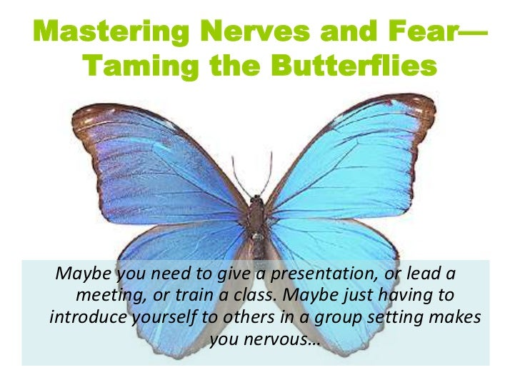 Mastering Nerves and Fear—Taming the Butterflies<br />Maybe you need to give a presentation, or lead a meeting, or train a...