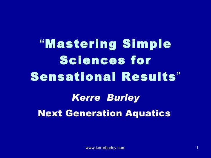 Mastering simple sciences for success