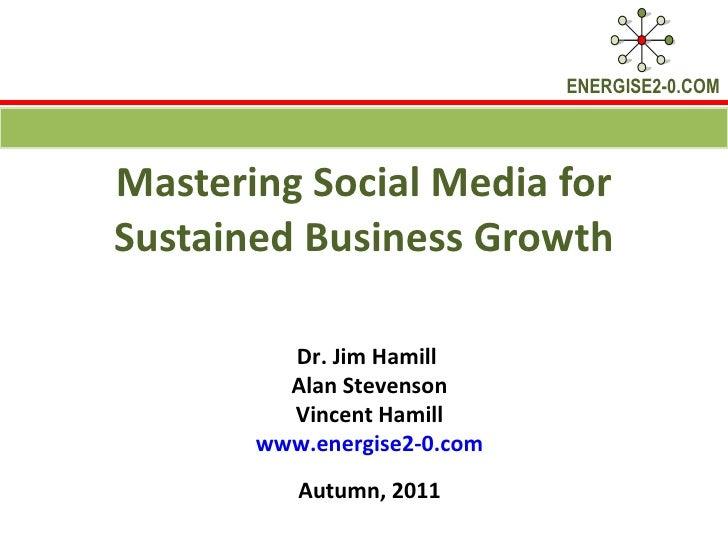 Mastering Social Media Programme 2 Workshop 1