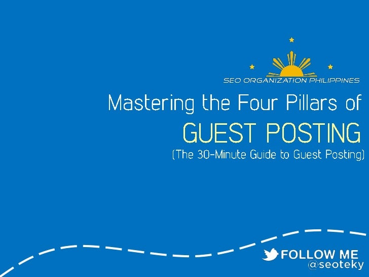 Mastering the 4 pillars of guest posting
