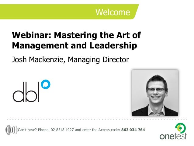 Mastering the Art of Management and Leadership