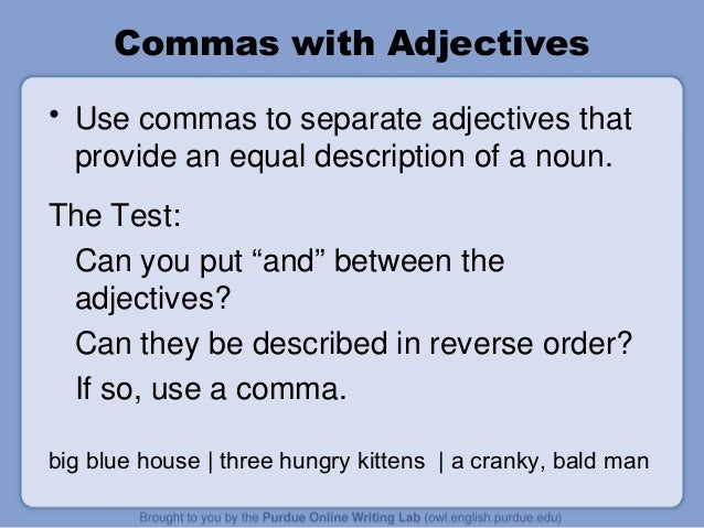 how to use commas By marina pantcheva the comma is perhaps the most puzzling mark of punctuation the rules for using commas are so numerous and can seem so arbitrary that one often wishes one could dispense with them once and for all really, are the commas so vital in the sentence below (1) historically the comma is derived.