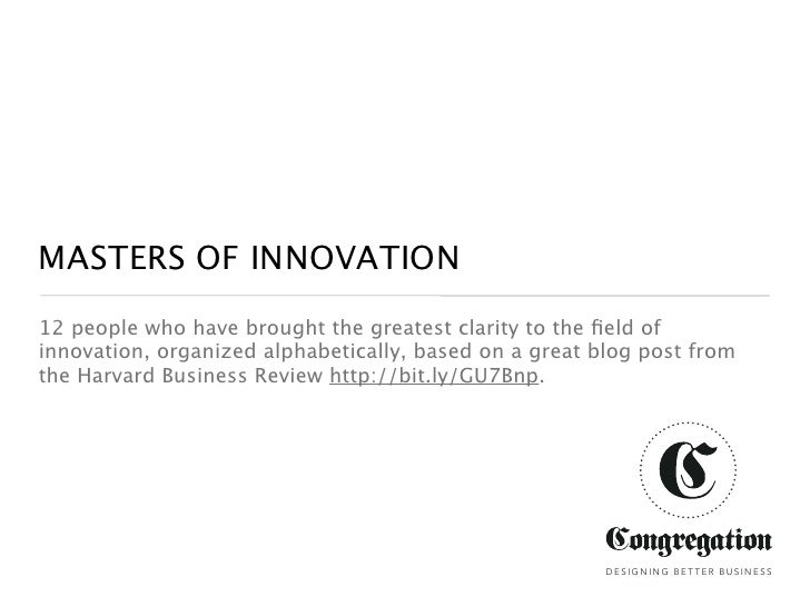 Master Innovators