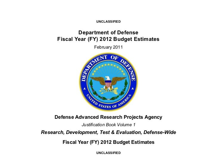 UNCLASSIFIED              Department of Defense      Fiscal Year (FY) 2012 Budget Estimates                      February ...