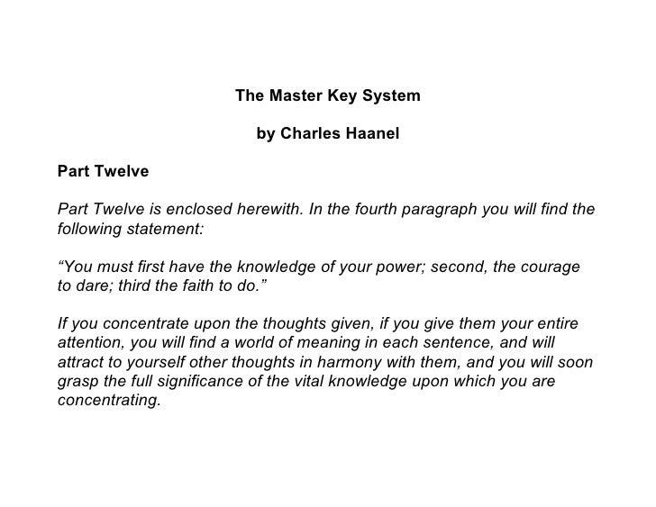 Master key system   part 12
