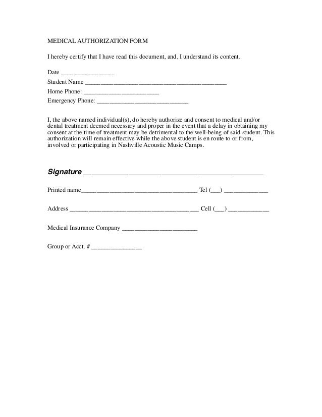 Authorization Release Form Template Medical Authorization Form i Jx0ezG7M