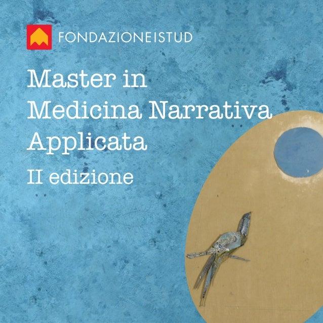 Master in Medicina Narrativa Applicata II edizione