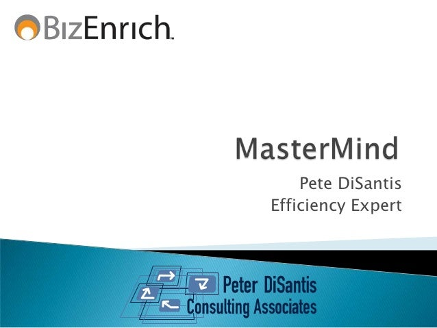 Pete DiSantisEfficiency Expert