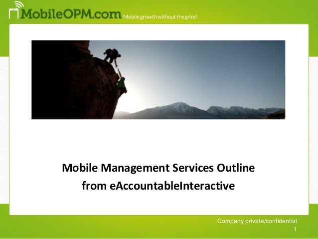 Master MobileOPM Presentation from eAccountable